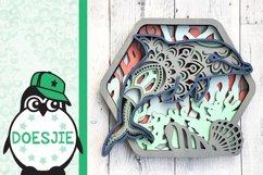 Dolphin SVG layered multi layer mandala sea animal nautical Product Image 3