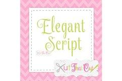 EXCLUSIVE Elegant Script SVG & DXF Cut File Product Image 1