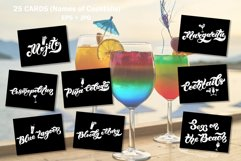 Cocktail Party Set. Lettering Product Image 2