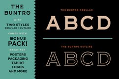 The Buntro Typeface and EXTRA Product Image 2