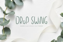 Drop Swing Hand Drawn Font Product Image 1
