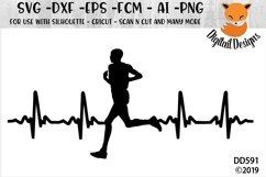 Male Runner EKG SVG Product Image 1