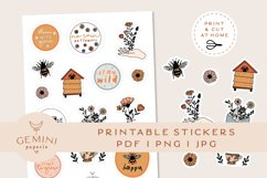 Botanical Printable Stickers | Cricut Design Sticker Sheet Product Image 1