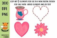 Valentine Clipart Elements Sublimation Scrapbooking Bundle Product Image 4