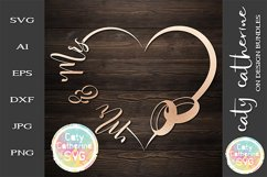 Wedding Love Heart Frame With Rings Bundle SVG Cut File Product Image 2