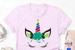 St. Patrick's Day Unicorn LGBTQ - St. Patrick's Day SVG EPS Product Image 3
