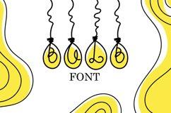 Bulb Font - A Cute Hanging Bulb Font Product Image 1