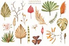 Savanna dried flowers and leaves Watercolor Product Image 2