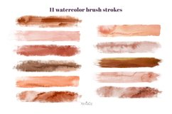 Terracotta Brush Stroke Clipart, Brown Watercolor Brush, PNG Product Image 2