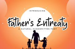 Father's Entreaty Natural Handwritten Font Product Image 1