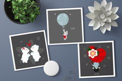 Nursery baby and valentine day cliparts, cards, patterns Product Image 2