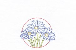 3 Daisy Flower Floral Circles Machine Embroidedery Design Product Image 2