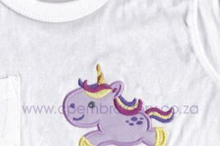 Baby Unicorn No1 Jumping Applique Product Image 2
