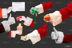 Christmas overlays Santa Claus Hand clipart png Photoshop Product Image 4