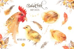 Boho Chick Watercolor Cliparts Product Image 2
