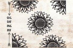 Set of Sunflowers svg dxf cut out cricut laser cut templates Product Image 1