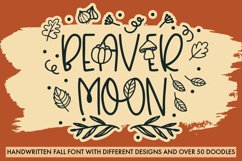 Beaver Moon Handwritten Fall Font With Doodles Product Image 1