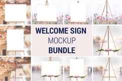 Easel Mockup BUNDLE, Welcome sign, Wedding Sign Mockup, 996 Product Image 4