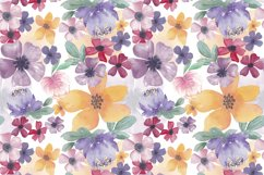 Watercolor flowers seamless pattern Colorful flowers clipart Product Image 2