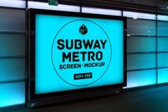 4 Outdoor Ad Screen Mock-Ups Set Bundle / 18 PSD Product Image 4
