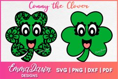 CONNY THE CLOVER SVG St Patrick's Day Zentangle Design Product Image 1