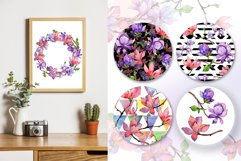 Amazing magnolia JPG watercolor flower set Product Image 3