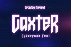 Web Font Gaxter - Cyberpunk Font Product Image 1