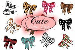 Cute Bow Ties, Hair Bow Clipart, Sublimation Bows Product Image 1