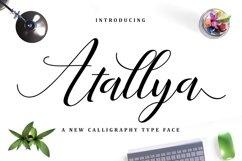 Web Font Atallya Script Product Image 1