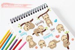 Sleepy sloth graphics and illustrations Product Image 3
