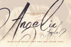 Angelic Brush & SVG Font Product Image 1