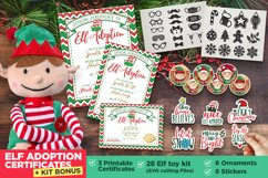 Elf Adoption Printable Certificate | Toy Kit Bundle Product Image 1