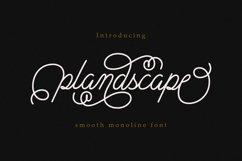 Plandscape smooth monoline font Product Image 1
