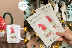 Watercolor Christmas Gnome clipart. PNG Sublimation design Product Image 4