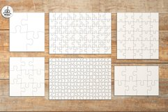 Puzzle Jigsaw SVG Templates Bundle - Classic, Heart, Unusual Product Image 2