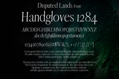 Disputed Lands Font Product Image 2