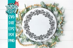 Floral Wreath Svg Product Image 3