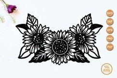 Sunflower bouquet SVG, Sunflower arrangement cut file Product Image 2