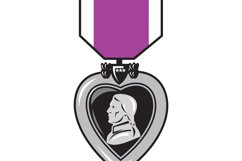 military medal of bravery valor purple heart Product Image 1