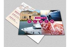 Insurance Renewal Postcard Template Product Image 1
