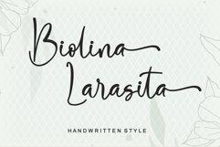 Biolina Larasita - Handwritten Style Product Image 1