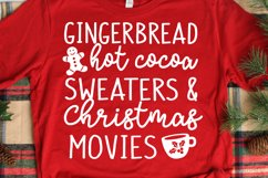 Gingerbread Hot Cocoa SVG, DXF, PNG, EPS Product Image 1