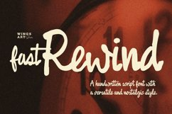 Fast Rewind 1950s Inspired Brush Script Font Product Image 1