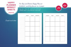 Undated monthly planner's sheets for Happy planner Product Image 1