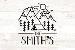 Last Name Family Sign Camping Tent svg Product Image 1