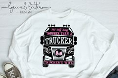 Trucker's Wife Occupation SVG DXF FCM LL143A Product Image 2