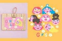 Girls PORTRAITS & patterns set Product Image 5