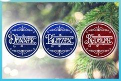 Reindeer Names Round Ceramic Ornament Christmas Bundle SVG Product Image 6