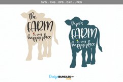 The Farm / Papa's Farm is my Happy Place - svg & printable Product Image 2