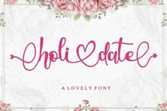 Holidate - A Lovely Font Product Image 1